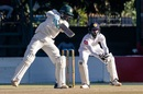 Brian Mudzinganyama punches one on the off side, Zimbabwe v Sri Lanka, 1st Test, Harare, 4th day, January 22, 2020