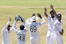 Suranga Lakmal celebrates with his team-mates, Zimbabwe v Sri Lanka, 1st Test, Harare, 5th day, January 23, 2020