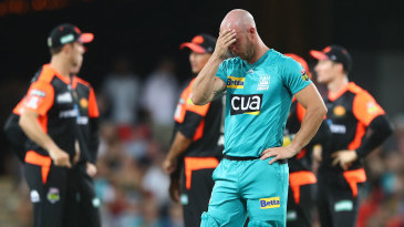 Chris Lynn could only watch as his top order collapsed