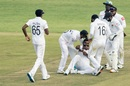 Lahiru Kumara is ecstatic after taking a wicket, Zimbabwe v Sri Lanka, 1st Test, Harare, 5th day, January 23, 2020