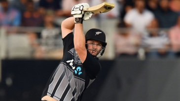 The not-often-seen orthodox straight drive from Colin Munro