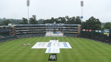Rain held up proceedings at the Wanderers