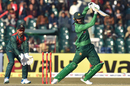 Shoaib Malik punches off the back foot, Pakistan v Bangladesh, 1st T20I, Lahore, January 23, 2020