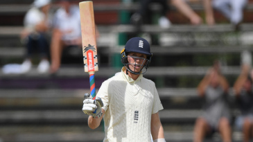 Zak Crawley made his maiden Test fifty