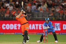 Liam Livingstone launches into one of his sixes, Perth Scorchers v Adelaide Strikers, Big Bash, Perth Stadium, January 25, 2020