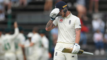 Ben Stokes endured a rare failure at the Wanderers