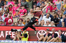 Debutant Nathan McSweeney made a spectacular attempt to catch Steven Smith, Sydney Sixers v Melbourne Renegades, Big Bash, SCG, January 25, 2020