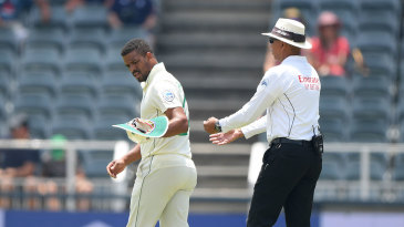 Vernon Philander limped off with a hamstring strain