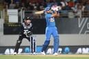 Shreyas Iyer goes down the ground, New Zealand v India, 2nd T20I, Auckland, January 26, 2020