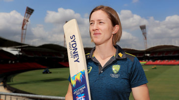Rachael Haynes at the Sydney Showground Stadium which will host the opening World Cup match