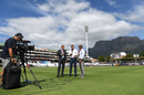 Shaun Pollock, Michael Atherton and Ian Ward film a bit for Sky Sports, day four, second Test, South Africa v England, Newlands, Cape Town, January 06, 2020