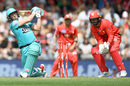 AB de Villiers is bowled trying to slog sweep, Melbourne Renegades v Brisbane Heat, BBL 09, Melbourne, January 27, 2019