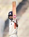 Shreevats Goswami raises his bat after reaching a hundred, Ranji Trophy 2019-20, January 27, 2020