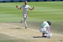 Ben Stokes burst through Faf du Plessis's defences, South Africa v England, 4th Test, Johannesburg, 4th day, January 27, 2020