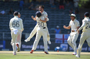 Mark Wood celebrates the wicket of Rassie van der Dussen, South Africa v England, 4th Test, Johannesburg, 4th day, January 27, 2020