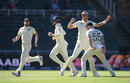 Stuart Broad celebrates as England close in, South Africa v England, 4th Test, Johannesburg, 4th day, January 27, 2020