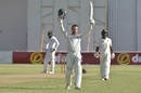 Sean Williams acknowledges the applause after reaching his century, Zimbabwe v Sri Lanka, 2nd Test, Harare, 1st day, January 27, 2020