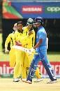 Tanveer Sangha sent back the dangerous Yashasvi Jaiswal, Australia v India, Under-19 World Cup 2020, Super League quarter-final, Potchefstroom, January 28, 2020