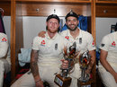 Ben Stokes and Mark Wood, England's players of the series and the match, fourth Test, South Africa v England, Wanderers, Johannesburg, January 27, 2020