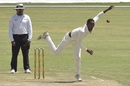 Tinotenda Mutombodzi bowls, Zimbabwe v Sri Lanka, 2nd Test, Harare, 2nd day, January 28, 2020