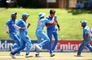 Kartik Tyagi picked up two wickets in the first over of the Australia innings, Australia v India, Under-19 World Cup 2020, Super League quarter-final, Potchefstroom, January 28, 2020