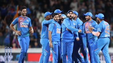 Virat Kohli is pumped after India forced the match to a Super Over