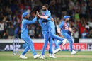 Mohammed Shami took a wicket off the last ball to deny New Zealand, New Zealand v India, 3rd T20I, Hamilton, January 29, 2020