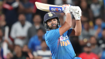 Rohit Sharma struck the winning six on the last ball
