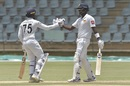 Dhananjaya de Silva and Angelo Mathews added 84 for the fourth wicket, Zimbabwe v Sri Lanka, 2nd Test, Harare, 3rd day, January 29, 2020