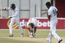 Niroshan Dickwella celebrates a wicket, Zimbabwe v Sri Lanka, 2nd Test, Harare, 4th day, January 30, 2020