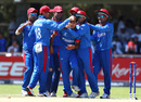 Fazal Haque is congratulated by his team-mates, South Africa v Afghanistan, U-19 World Cup, Kimberley, January 17, 2020