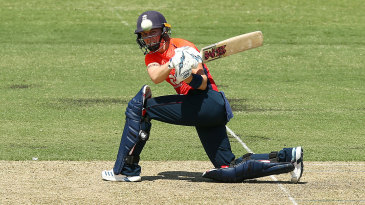 Heather Knight sweeps during her career-best