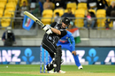 Colin Munro targets the leg side, New Zealand v India, 4th T20I, Wellington, January 31, 2020