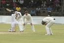 Kusal Mendis swats one away, Zimbabwe v Sri Lanka, 2nd Test, Harare, 5th day, January 31, 2020