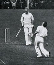 Jack Cowie catches Jim Smith to complete his 6 for 67, England v New Zealand,  2nd Test, Manchester, July 27, 1937