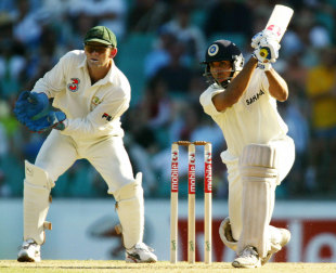 VVS Laxman on the drive, 4th Test, Sydney, 1st day, January 2, 2004