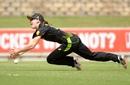 Annabel Sutherland puts down a chance, Australia v India, Women's T20I tri-series, Canberra, February 2, 2020