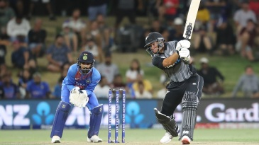 Ross Taylor hits powerfully through the off side