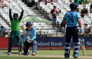 Quinton de Kock makes a successful appeal for lbw against Tom Banton, 1st ODI, Cape Town, February 4, 2020