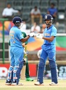 Divyaansh Saxena and Yashasvi Jaiswal punch gloves, India v Pakistan, U-19 World Cup semi-final, Potchefstroom, February 4, 2020