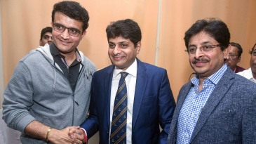 Sourav Ganguly congratulates the new CAB president Avishek Dalmiya and joint-secretary Snehashish Ganguly