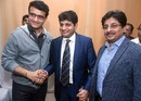 Sourav Ganguly congratulates the new CAB president Avishek Dalmiya and joint-secretary Snehashish Ganguly, Kolkata, February 5, 2020