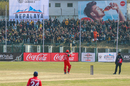 Oman's Mohammad Nadeem acknowledges applause from the Tribhuvan University Stadium crowd after reaching his fifty, Nepal v Oman, ICC Cricket World Cup League Two tri-series, Kirtipur, February 5, 2020