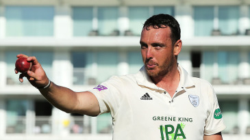 Kyle Abbott after taking seven wickets in an innings and 17 in the match for Hampshire against Somerset