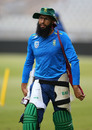 Hashim Amla at a training session during the World Cup, Old Trafford, July 04, 2019