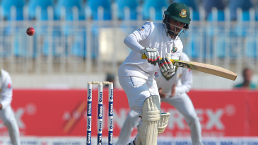 Mominul Haque pats one away