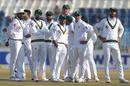 All eyes on the big screen after a Pakistan review, Pakistan v Bangladesh, 1st Test, Rawalpindi, 1st day, World Test Championship, February 7, 2020