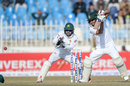 Mohammad Mithun punches through the off side, Pakistan v Bangladesh, 1st Test, Rawalpindi, World Test Championship, 1st day, February 7, 2020