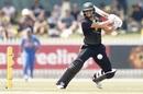 Ashleigh Gardner plays a cut, Australia v India, Women's tri-nation T20I Series, Melbourne, February 8, 2020
