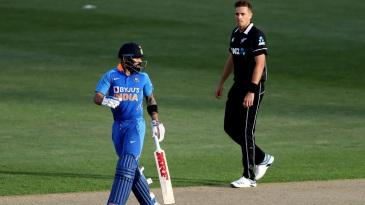 Tim Southee bowled Virat Kohli with a beauty